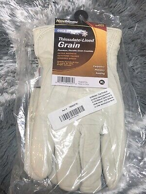 Hand Master Cold Weather Thinsulate-lined Grain Pro Grade Work Gloves Size Xl