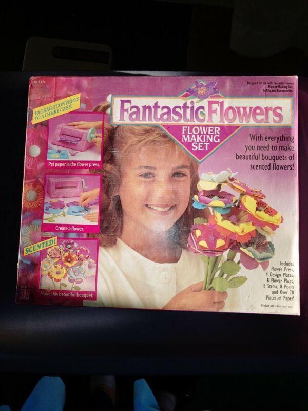 Vintage Hasbro Fantastic Flowers Making Set 1991 Hasbro Craft Toy + EXTRAS