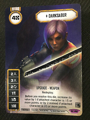 Star Wars Destiny Way of the Force Darksaber #142 Legendary Full Art Promo