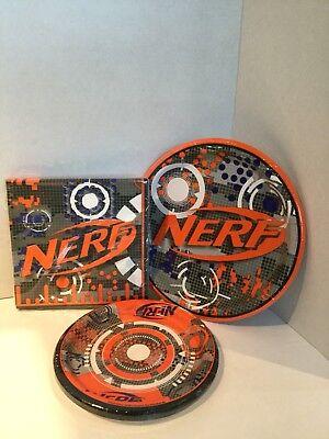Nerf Party Supplies For 8 Plates Napkins Orange Nerf Gun Birthday Blue