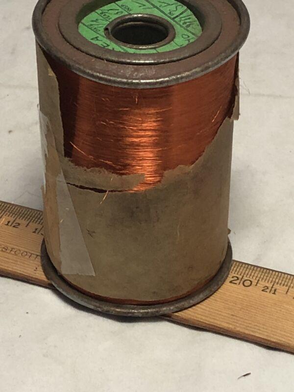 Vintage bare copper 25 oz 44 SF on spool Rea Magnet Wire Company Ft Wayne IN