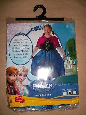 Disney Frozen Anna Deluxe Kostüm Kleid + Cape Prinzessin Gr M 5 - 6 Jahre NEU