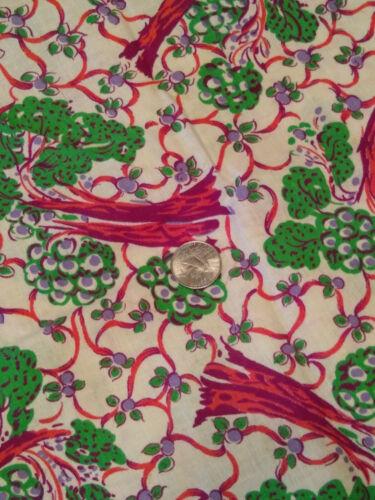 Whole Vintage Feedsack. trees , large pattern