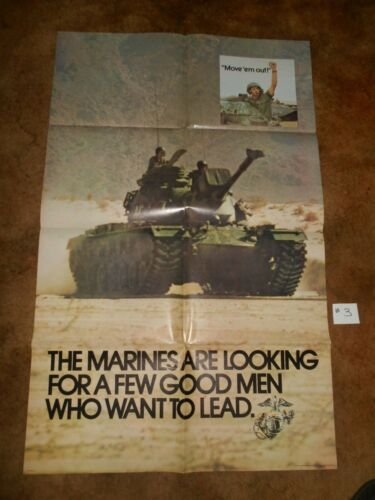 #3 ORIGINAL MARINE RECRUITING POSTER 1973 BY GOV. PRINTING OFFICE