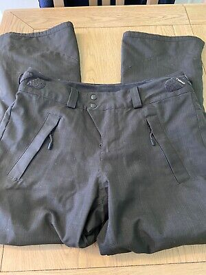 """O'Neill Snow Outerwear Black Relaxed Bootcut Trousers  Size M Length 39"""" W 16"""""""