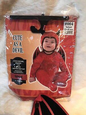 Cute As A Devil Infant Size 12-18 Months 3 Piece Halloween Costume Costumes USA  - Size 12-18 Month Halloween Costumes