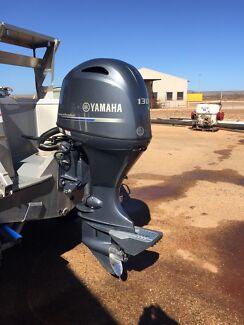Outboard 130 hp 4 stroke Yamaha engine