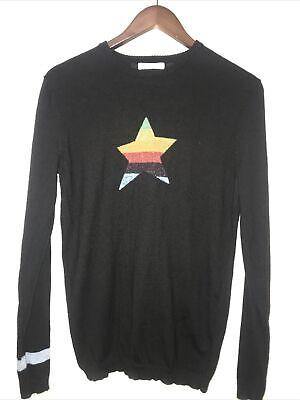 Bella Freud Black Star Jumper Size L