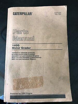 Catapillar 140g Motor Grader Parts Manual