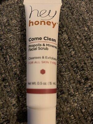 NEW Hey Honey Come Clean Propolis & Minerals Facial Scrub 0.5 oz/15 mL SEALED