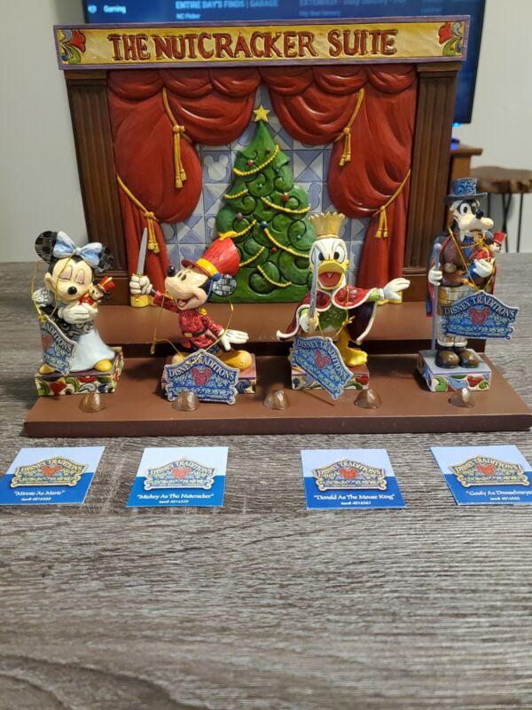 Disney Showcase Jim Shore Christmas Nutcracker Set Goofy Donald Mickey Minnie