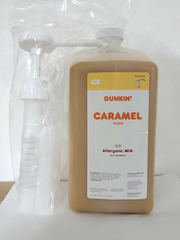 Dunkin Donuts Caramel Swirl 64 Oz Jug With Pump