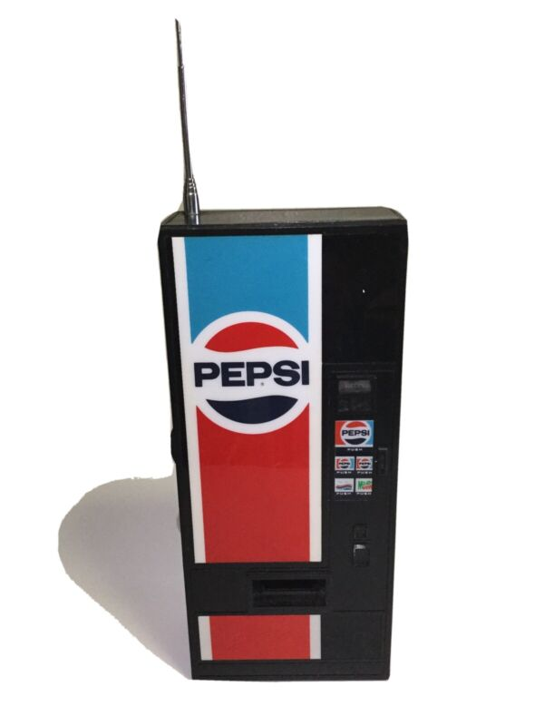 Vintage Pepsi Vending Machine AM/FM Radio, Soda, Mountain Dew, Diet Untested