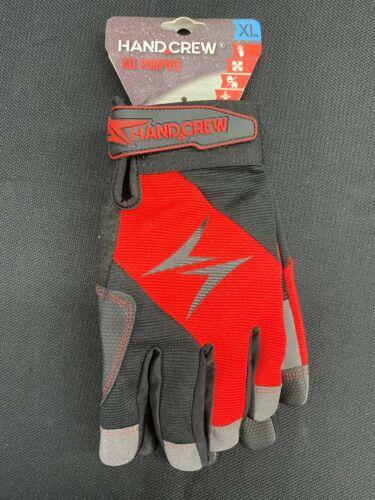 HG-3102XL HandCrew Unisex Synthetic Leather Multipurpose Gloves, X-Large