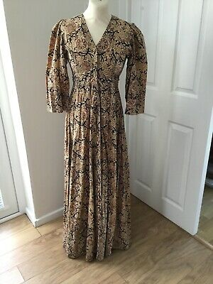 ADINI Vintage Indian Blockprint Cotton Maxi Dress Hippy Bohemium
