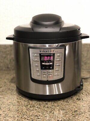 Instant Pot IP LUX60 6 in 1 Programmable 6 Quart Pressure Cooker  Read Desc