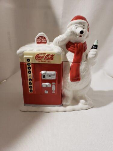 Coca Cola Polar Bear Vending Machine Cookie Jar
