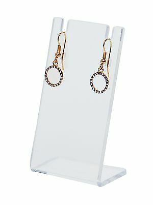 Earring Necklace Stand Jewelry Clear Acrylic Display Holder Earing Qty 24