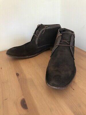 Hudson Mens Brown Suede Boots Uk Size 10 EU 44