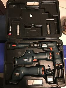 Black & Decker battery powered tool set