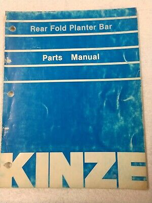Kinze Rear Fold Planter Bar Parts Manual 1j-2578-x15