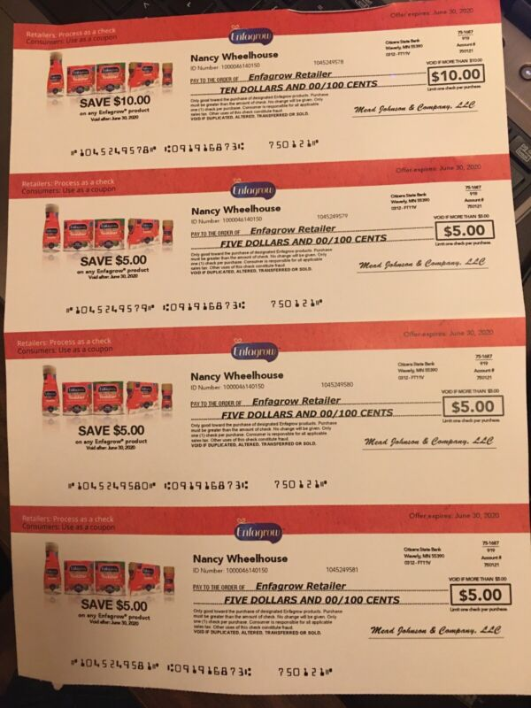 $16 Enfamil Engagrow Formula Coupons Checks