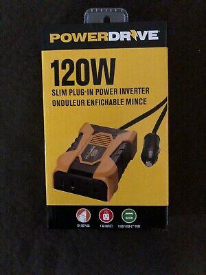 120 Watt Slim Car Plug-in Inverter With 1ac And 2 USB Port. 12v  Ac 120 Watt Usb Inverter