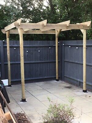 Garden Pergola - Notched  Wooden  Outdoor  Structure - Treated Timber