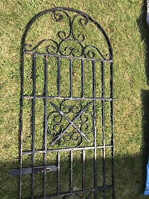 Tall Rounded Wrought Iron Garden Gate