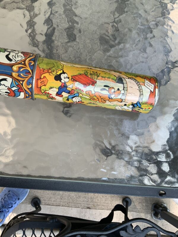 Adorable VINTAGE WALT DISNEY KALEIDOSCOPE Mickey Mouse Donald Duck Goofy