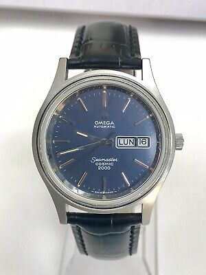 Vintage Omega Seamaster Cosmic 2000 Automatic Watch Blue Dial