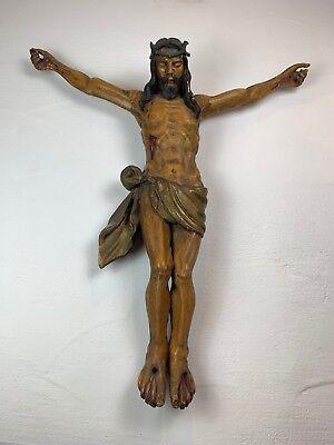 Jesus Christus mit der Dornenkrone Korpus im Viernageltypus 18. Jahrhundert