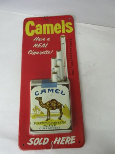 VINTAGE ADVERTISING CAMEL CIGARETTES  THERMOMETER STORE DISPLAY   A-99