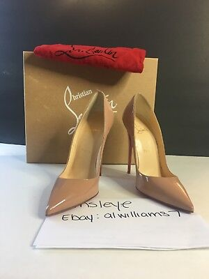 Christian Louboutin So Kate 120 - Nude - Patent Leather - Size 39