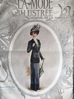 Edwardian MODE ILLUSTREE April 9 & 14,1911 +multi sewing PATTERN sheet