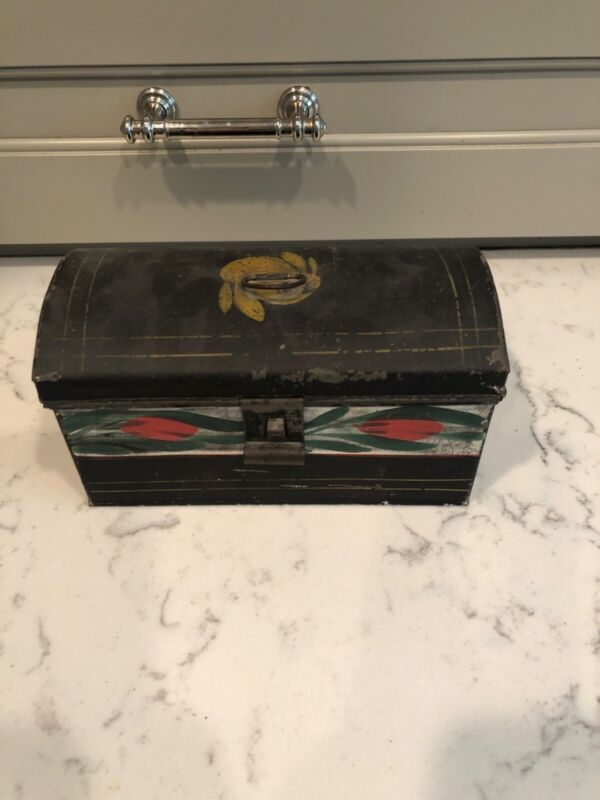 Hand-Painted American Toleware Document Box