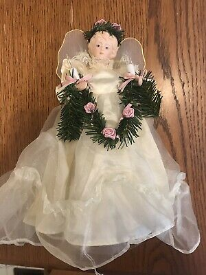 Angel Light Up Christmas Tree Topper with 10 Lights Made In Taiwan