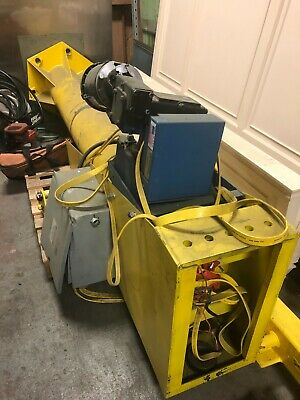 Gorbel 360 Motorized Jib Crane 14 Ton10ft Hub 16ft Span Motorized Hoist-used
