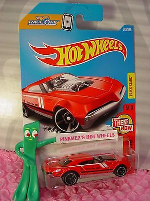 MUSCLE SPEEDER #362✰red/black;mc5✰THEN AND NOW✰2017 i Hot Wheels case Q/2018 A