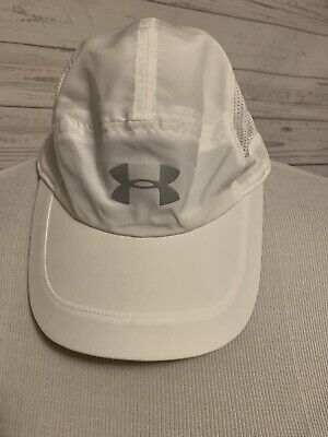 UNDER ARMOUR Women's WHITE BASEBALL HAT WITH REFLECTIVE LOGO, NWOT