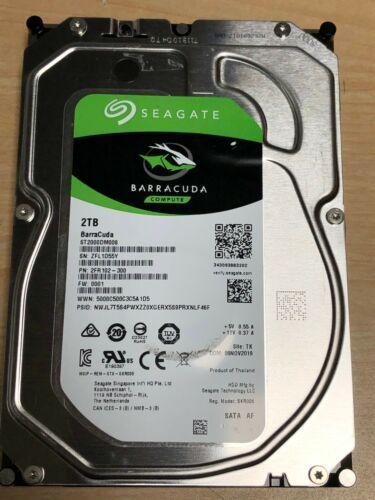 Seagate BarraCuda ST2000DM008 2TB 3.5 7200 RPM 256MB SATA 6.0Gb Hard Drive  HDD