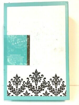 - Black Damask Invitation Kit wedding invitations cards A2