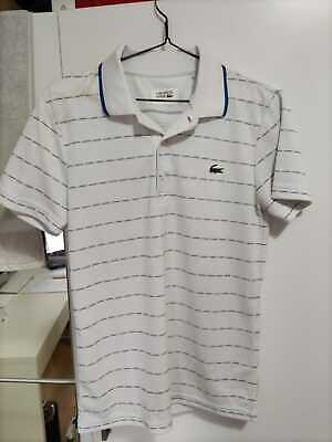 Lacoste Sport Polo Shirt Supreme White Authentic Original Slightly Used Size 2 S
