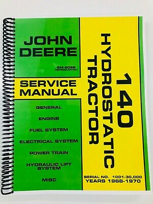 Service Manual For John Deere 140 Hydrostatic Tractor Sm2086 Repair Manual