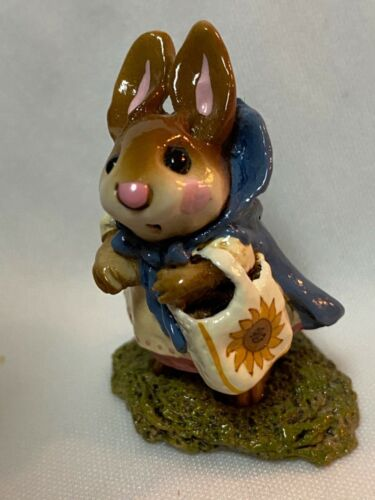 Wee Forest Folk Retired Sunflower Windy Day Bunny