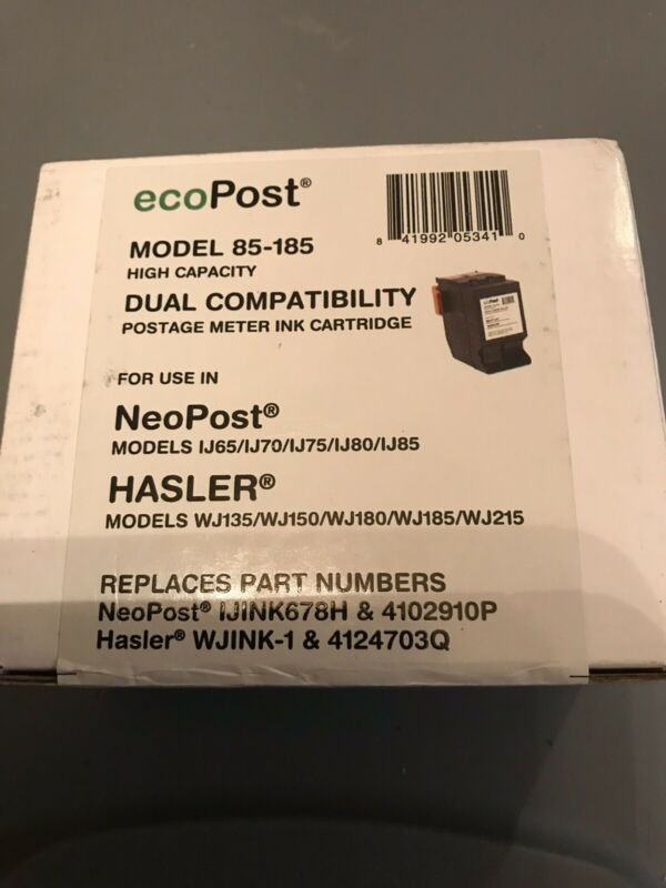 EcoPost High Capacity Postage Meter Ink Cartridge Model 85-185