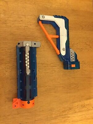 Lot of Nerf Attachments - Sonic Ice Blue Barrel Extension Shoulder Stock