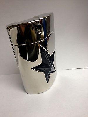 A MEN Angel by Thierry Mugler 3.4 fl oz Eau de Toilette Spray Metal Flask Lot M Angel Men Metal Flask