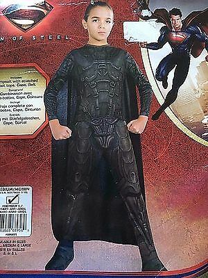 Man Of Steel Zod Kostüme (NEW Man of Steel GENERAL ZOD Children's COSTUME Halloween DRESS UP Medium)