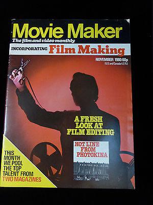 Movie Maker Magazine  November 1980  Like New